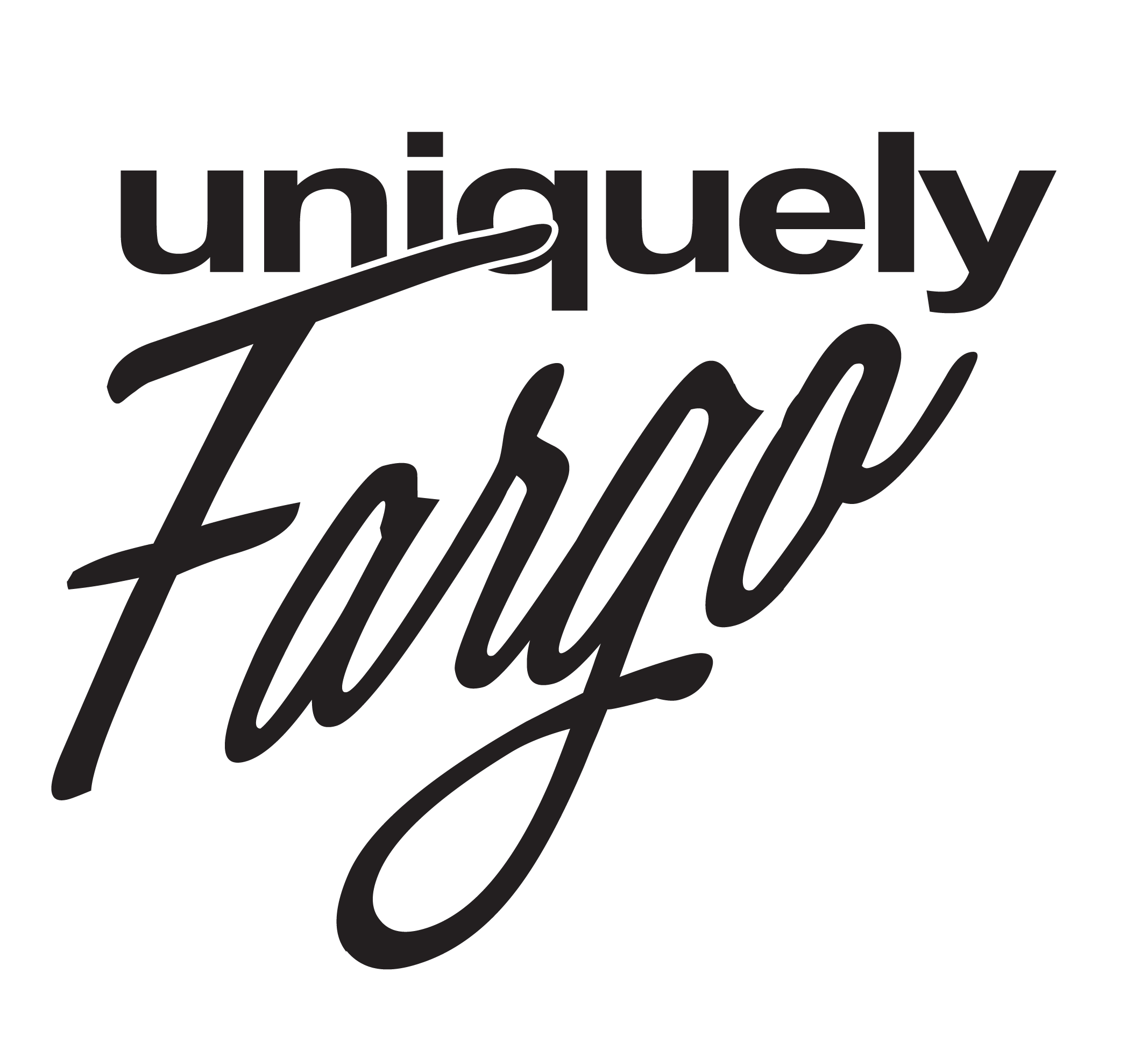 This image shows a Uniquely Fargo logo.