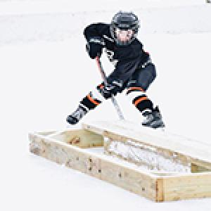 This image shows a youth hockey player