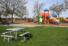 This image shows the playground at Lindenwood Park.