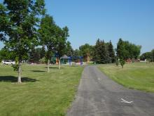 This image shows the recreational trail at Brunsdale Park.