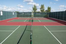This image shows the pickleball courts at Brunsdale Park.
