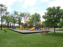 This image shows the playground at Rheault Farm.