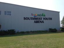 This image shows the outside of Southwest Youth Ice Arena building.