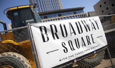 This image shows the Broadway Square banner