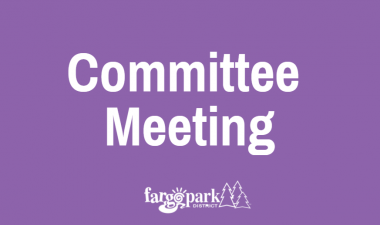 This image shows the Fargo Parks Committee Meetings graphic.