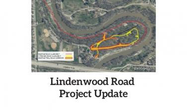 "Graphic reads ""Lindenwood Road Project Update"" with project map."