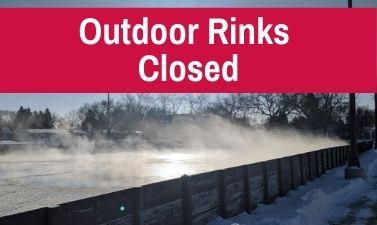This image shows a graphic of the outdoor rinks closing for the year.