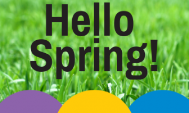 This image shows a graphic of the Hello Spring event in May.