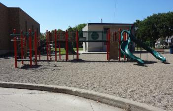 This image shows the playground at Clara Barton Park.