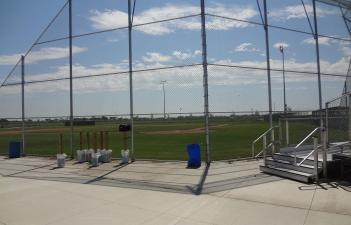 This image shows one of the fields at Davies Athletic Complex.