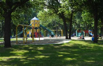 This image shows the playground at Island Park.