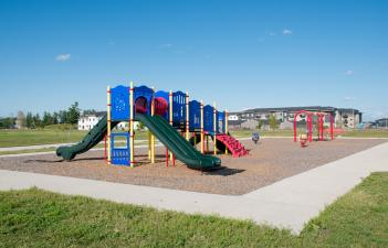 This image shows the playground at Cottagewood Park.