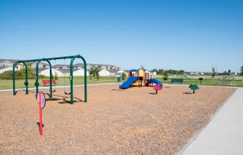 This image shows the playground at Davies 2nd Addition Park.