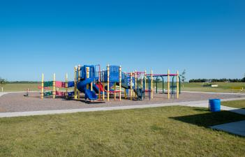 This image shows the playground at Golden Valley Park.