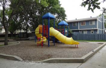 This image shows the playground at Hampton Park.