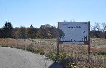 This image shows the sign at Heritage Hills.