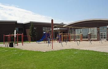 This image shows the playground at Bennett Park.