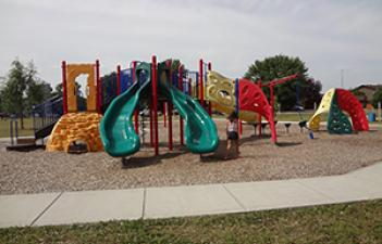 This image shows the playground at Boler Park.