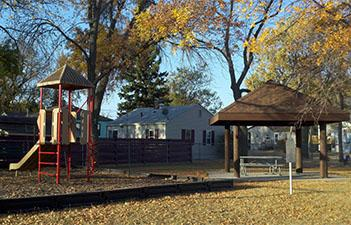 This image shows the playground at Cannon Park.