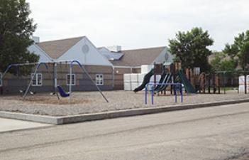 This image shows the playground at Centennial Park.