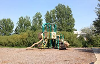 This image shows the playground at Greenfields Park.