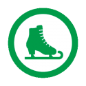This image shows a ice skating icon.