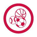 This image shows a sports sampler icon.