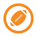 This image shows an icon of flag football