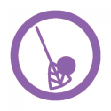 This image shows a broomball icon.