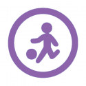 This image shows a kickball icon.