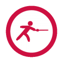 This image shows a fencing icon