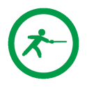 This image shows a fencing icon.