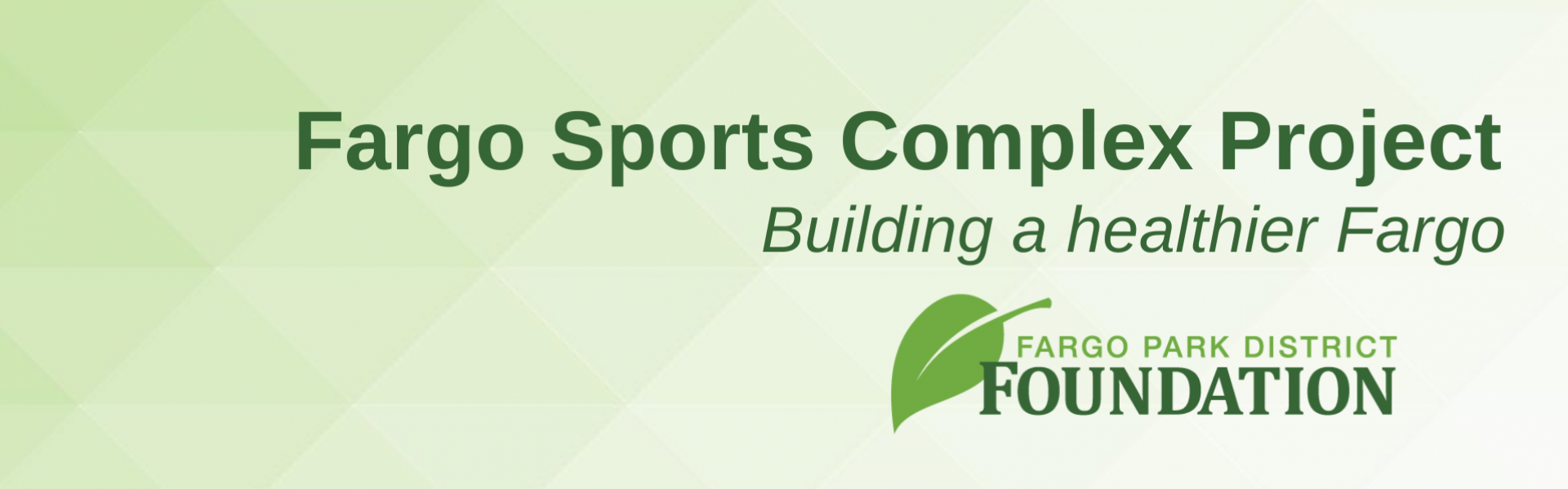 This image shows a graphic of the Fargo Sports Complex Foundation project.