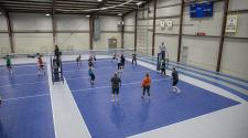 This image shows an overview of the volleyball court.