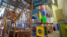 This image shows the indoor playground at Court Plus.