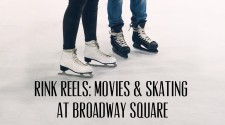 This image shows a graphic of Broadway Rink Reels event.